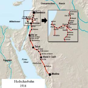 Eisenbahnverbindung von Israel nach SaudiArabien